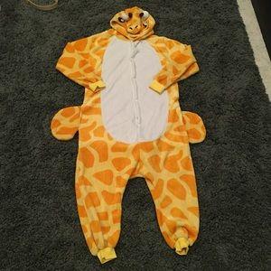 Giraffe onesie adult